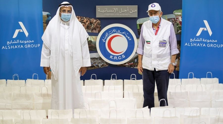 Mohammed Alshaya, Executive Chairman of Alshaya Group and Dr. Hilal Al-Sayer, Chairman of the Kuwaiti Red Crescent Society